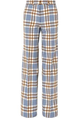 Victoria Beckham | Checked wool and mohair-blend wide-leg pants | NET-A-PORTER.COM