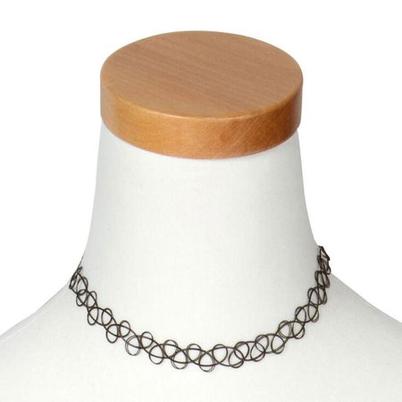 Tattoo Choker Necklace - Black   Claire's US
