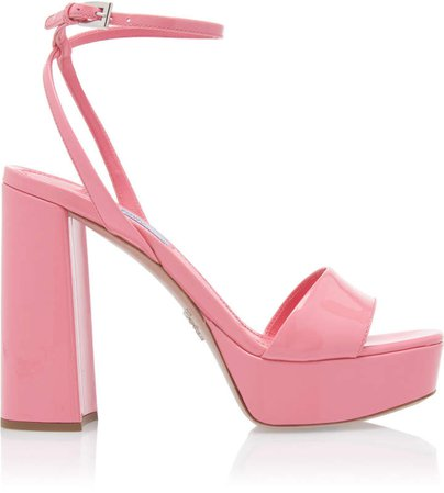 Patent Leather Block Heel Sandals