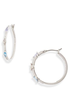 Nordstrom Color Crystal Inside-Out Hoop Earrings | Nordstrom