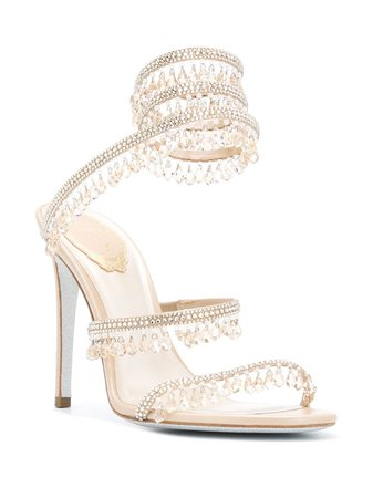 René Caovilla crystal-embellished Sandals - Farfetch