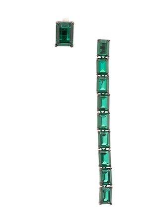 Green Ann Demeulemeester Baguette Emerald Earrings   Farfetch.com
