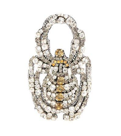 Crystal-embellished brooch