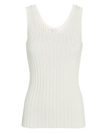 Veronica Beard Sandra Rib Knit Tank Top | INTERMIX®