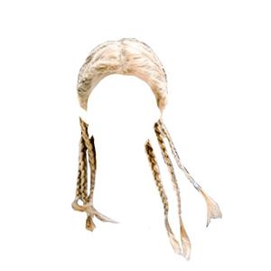 blonde hair multiple braids png