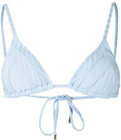 Peony triangle bikini top