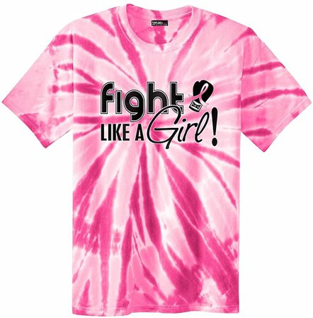Amazon.com: Fight Like a Girl Signature Breast Cancer Awareness Unisex T-Shirt - Hot Pink [S]: Clothing