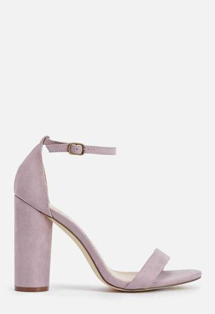 Elena Heeled Sandal in Lilac - Get great deals at JustFab