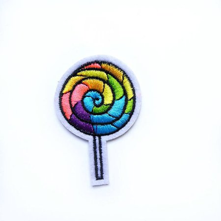 Rainbow Lollipop Vintage Iron-on Embroidered Patch AJ004 | Etsy