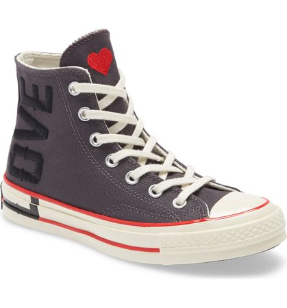 Converse Chuck Taylor® All Star® 70 Love Fearlessly High Top Sneaker (Women) | Nordstrom