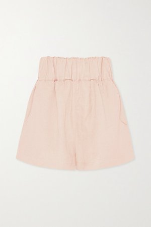 Net Sustain Universal Linen-blend Shorts - Blush