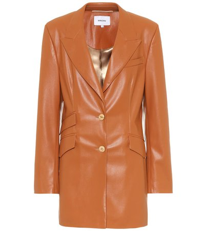 Nanushka - Faux leather blazer | Mytheresa