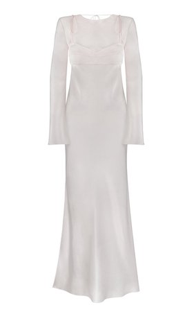 Greece Open Back Satin Maxi Dress By Anna October | Moda Operandi
