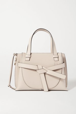 Off-white Gate mini textured-leather tote | Loewe | NET-A-PORTER