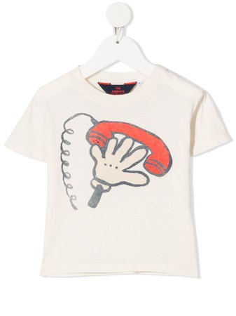 Shop The Animals Observatory graphic print T-shirt with Express Delivery - Farfetch