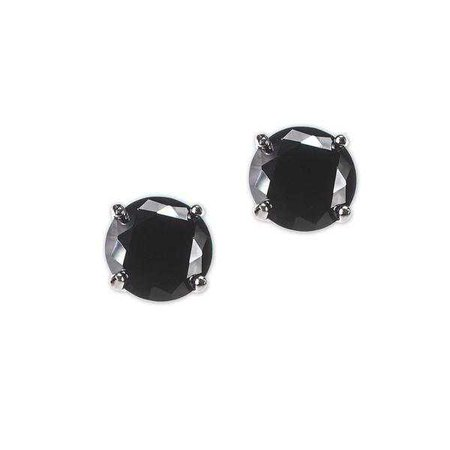 Fashiontage - Black Round Stud Earring Ring Jewelry Set - 938574708797