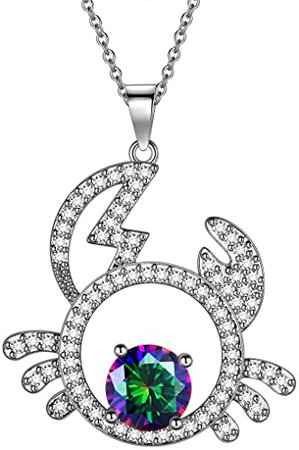 Hipunk Sagittarius Necklace Iced Out Platinum Plated Constellation Zodiac Sign Pendant Horoscope Astrology Star Birthday Jewelry SP0068S | Amazon.com