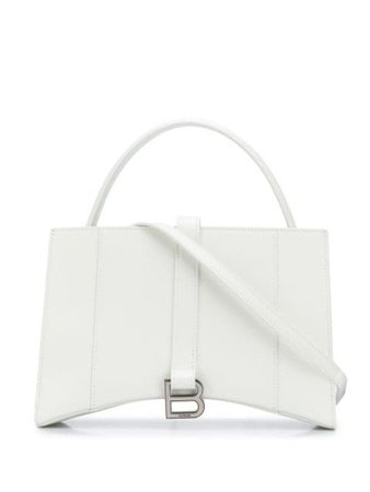 Shop white Balenciaga Hourglass XS tote bag with Express Delivery - Farfetch