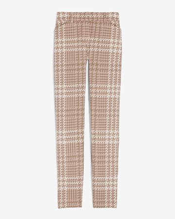 Mid Rise Houndstooth Plaid Skinny Pant | Express