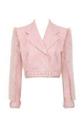 Winter Chic, Pale Pink, Faux Fur, Bell Sleeve Top,