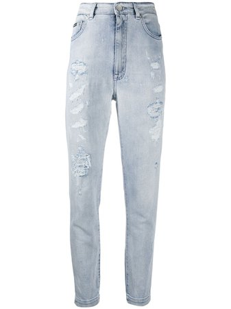 Dolce & Gabbana Distressed slim-fit Jeans - Farfetch