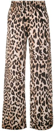 cropped leopard trousers