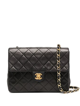 Chanel Pre-Owned black diamond quilted Flap shoulder bag
