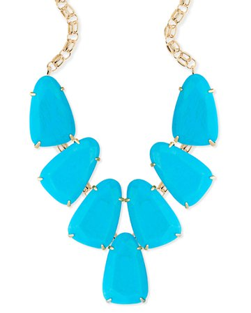 Kendra Scott Harlow Statement Necklace In Turquoise