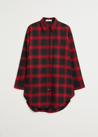 Oversize check shirt - Women | Mango USA