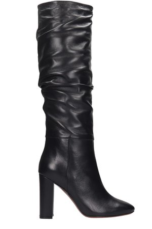 LAutre Chose High Heels Boots In Black Leather