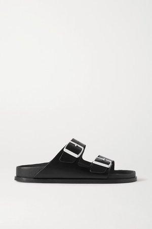 Net A Porter Arizona Leather Sandals - Black