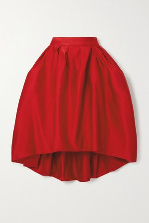 AZ Factory - Switchwear Bow-detailed Recycled Duchesse-satin Skirt - Red