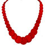 Amazon.com: JANE STONE Fashion Simulated Turquoise Red Beads Necklace Statement Bib Jewelry Set for Women(Fn1270-set): Jewelry