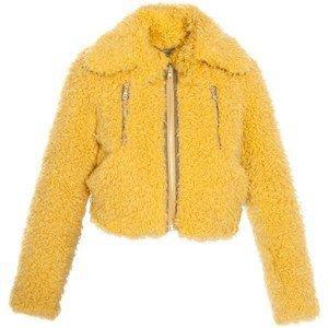 Yellow Furry Jacket