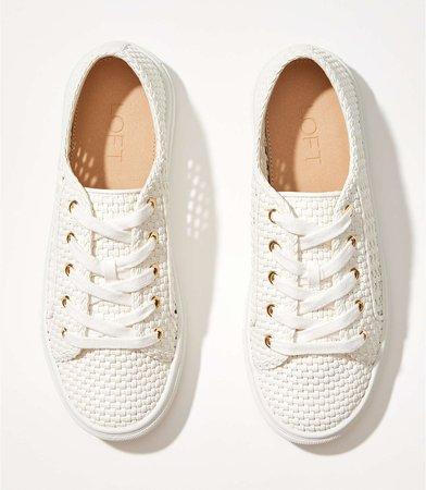Woven Lace Up Sneaker | LOFT