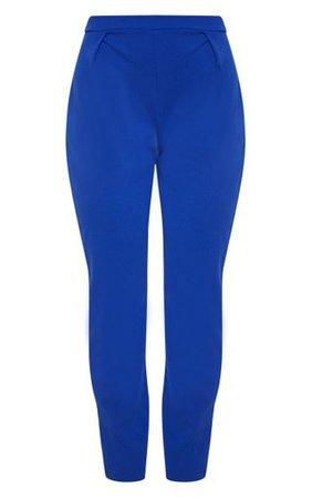 Blue Cigarette Trouser | Trousers | PrettyLittleThing