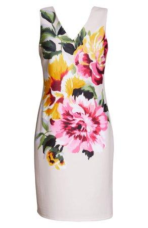 Donna Ricco Floral Print Sheath Dress | Nordstrom