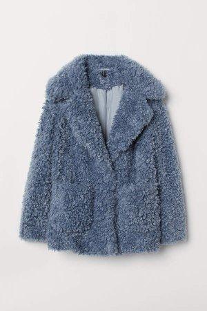 Faux Fur Jacket - Gray