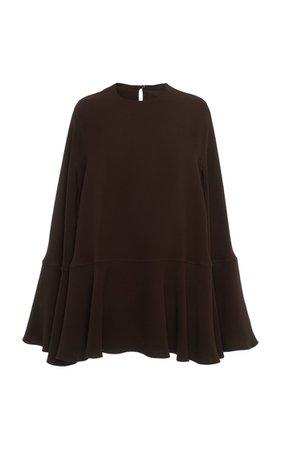 Caped Silk Mini Dress By Valentino | Moda Operandi
