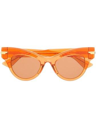 Orange Bottega Veneta Eyewear The Original 04 sunglasses - Farfetch