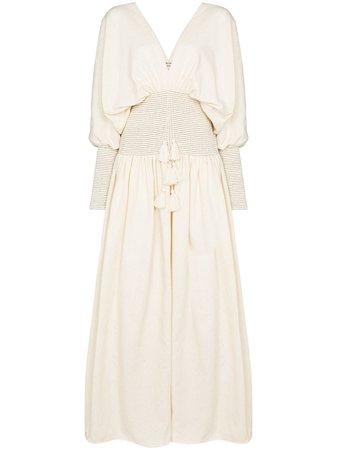 ESCVDO Sana Smocked Maxi Dress - Farfetch