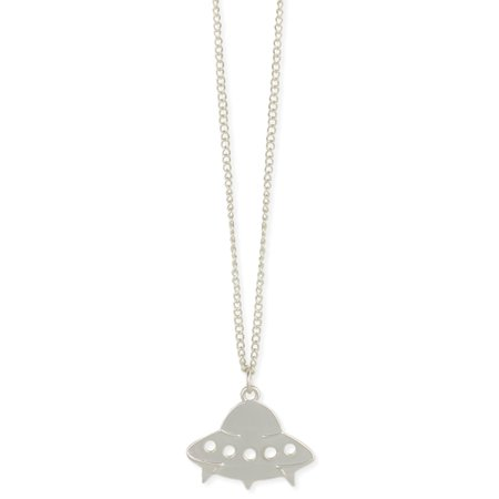 Take me to Your Leader Silver UFO Necklace