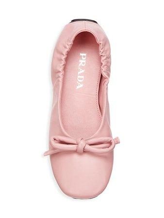 Prada Leather Ballet Flats   SaksFifthAvenue
