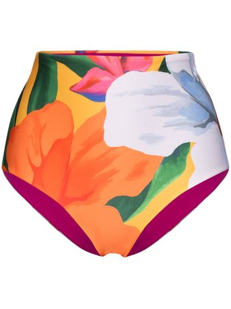 Mara Hoffman Lydia Floral-Print Bikini Bottoms