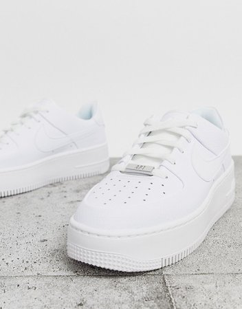 Nike White Air Force 1 Sage Low Trainers | ASOS