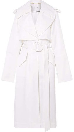 Techno Twill Trench Coat - White