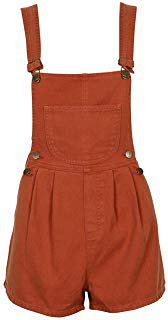 Orange Overall Shorts 1