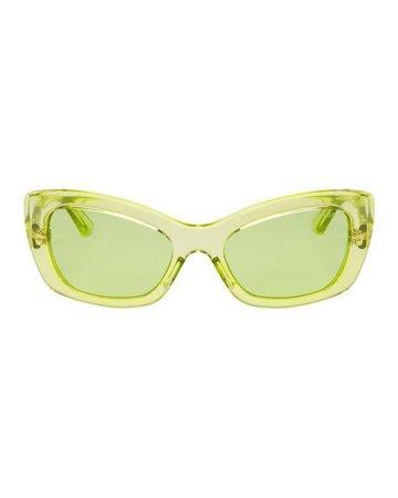 Prada Green Postcard Sunglasses in Yellow - Lyst