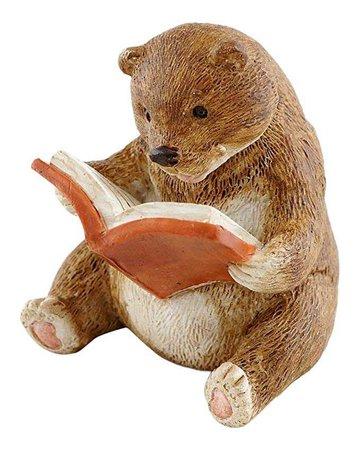 Amazon.com : Top Collection Miniature Fairy Garden and Terrarium Baby Bear Reading Statue : Garden & Outdoor