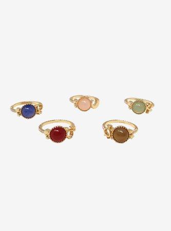 Sailor Moon Symbols & Stones Ring Set